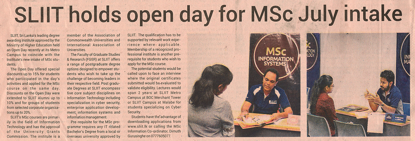 SLIIT_holds_openday_for_MSc_July_Intake