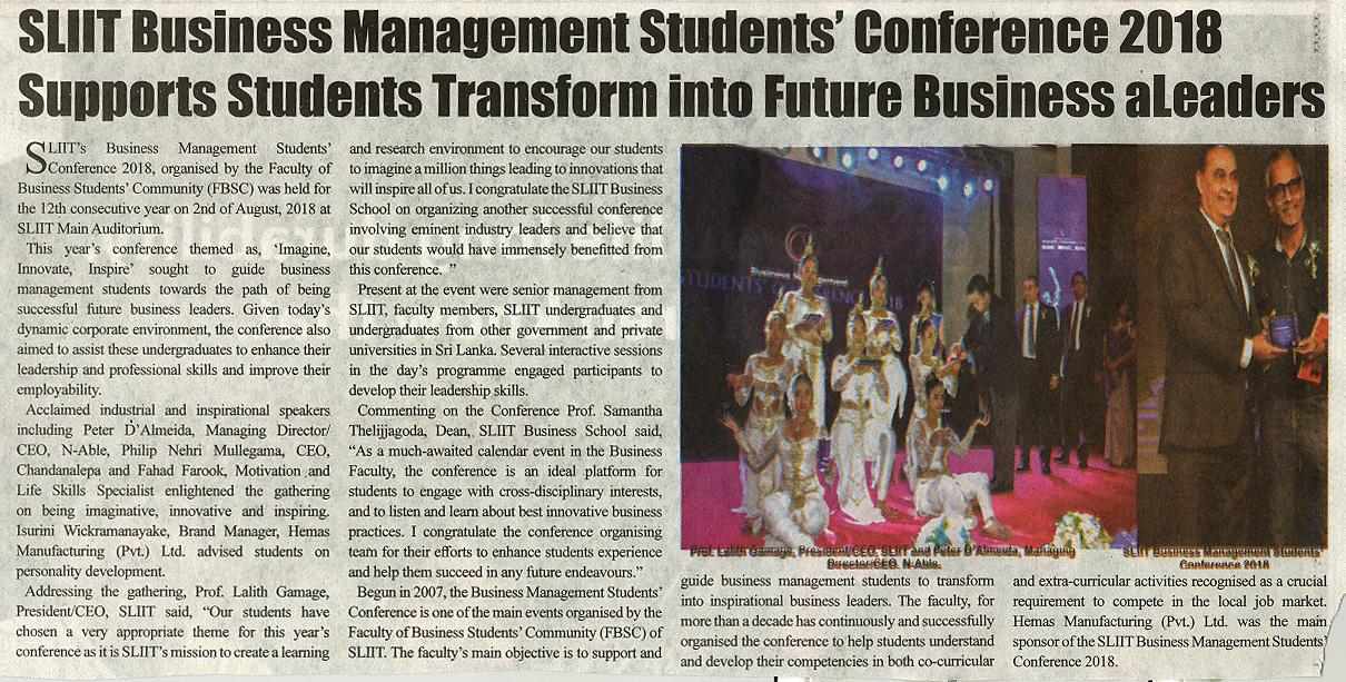 SLIIT-BM-Conference-Ceylon-Independant-19-08-2018