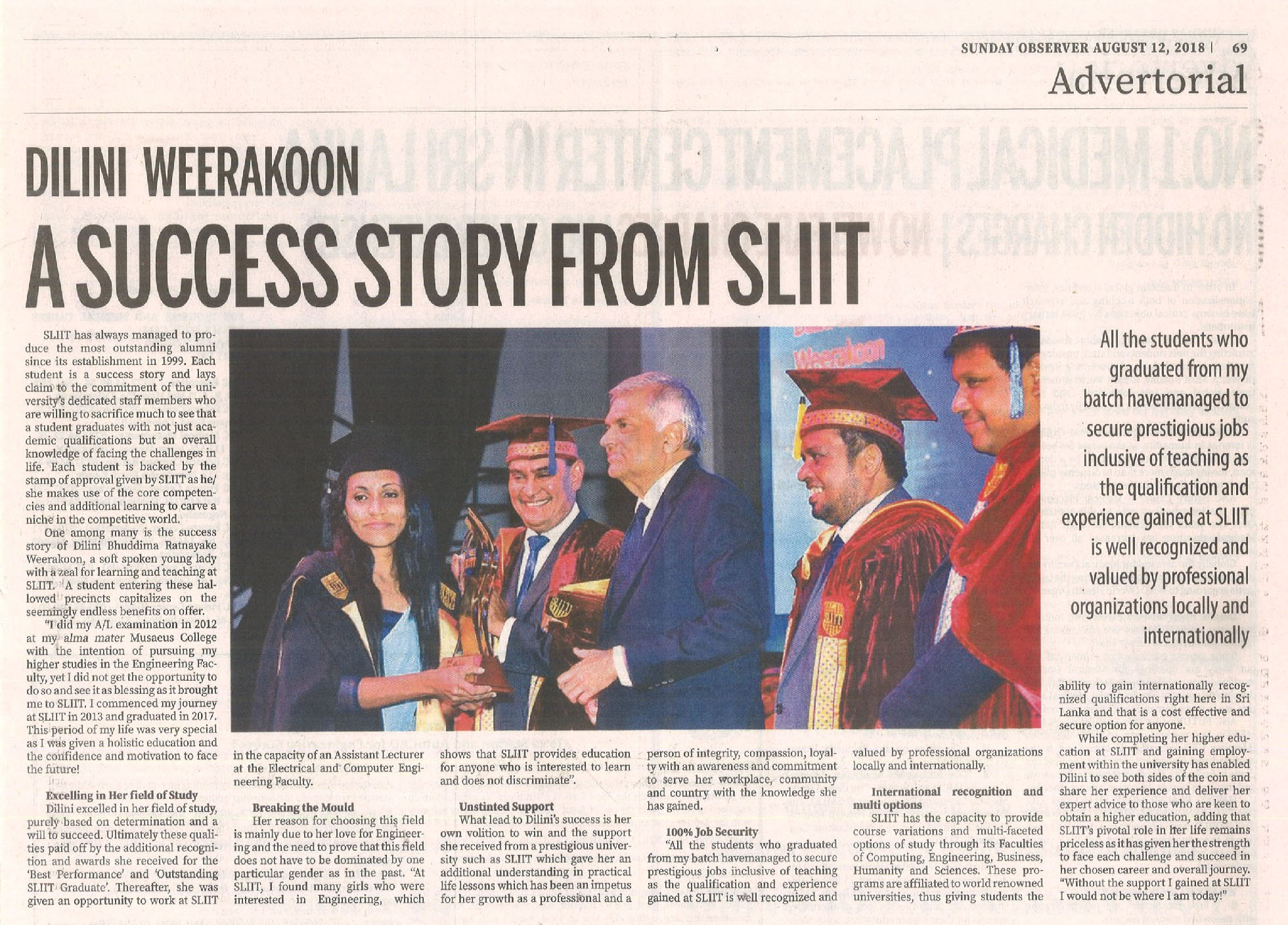 A-Success-Story-from-SLIIT-Dilini-Weerakoon-Sunday-Observer-12.08.2018
