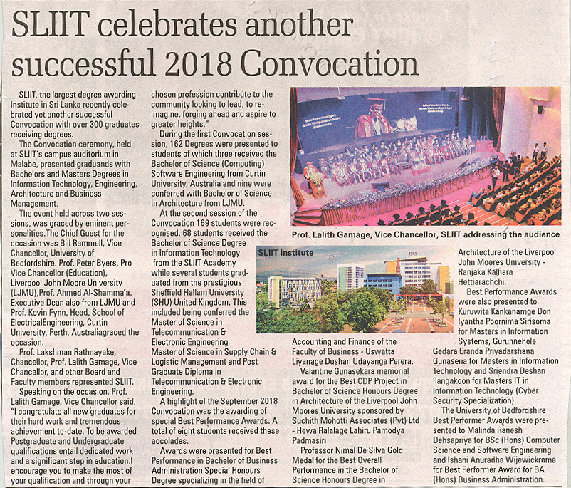 SLIIT-Celebrates-another-Successful-2018-Convocation-Sunday-Times-28-10-2018