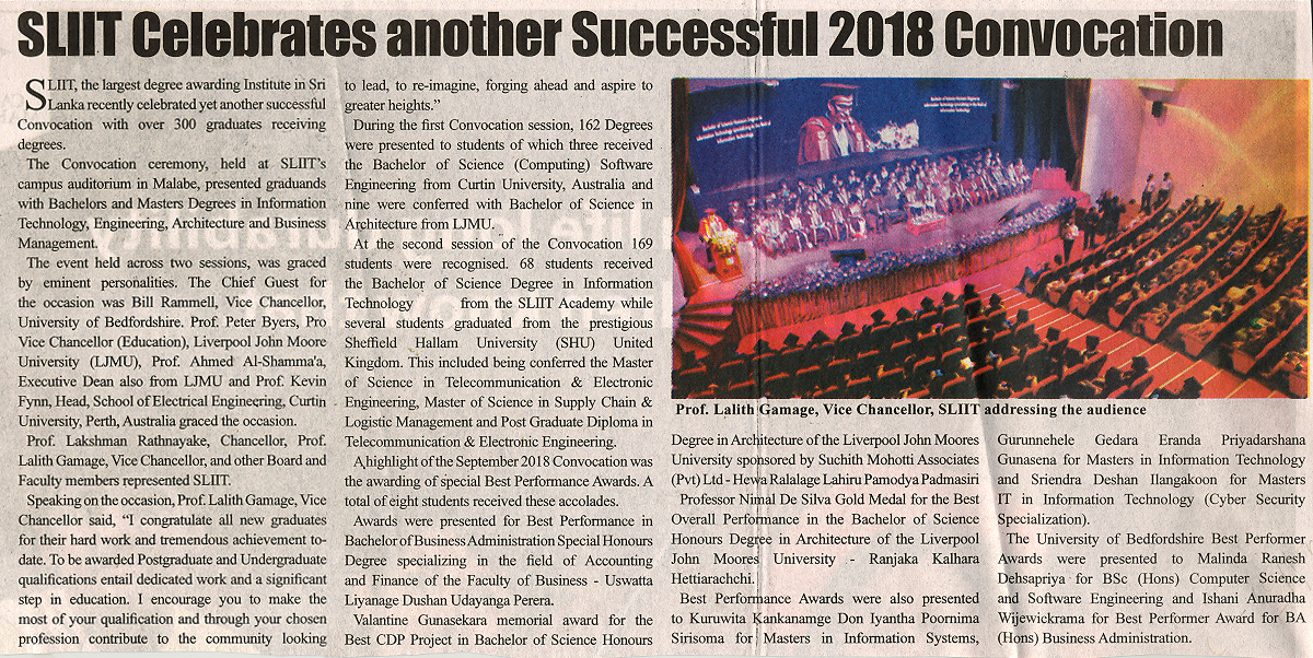 SLIIT-Celebrates-another-Successful-2018-Convocation-Ceylon-Independant-28-10-2018