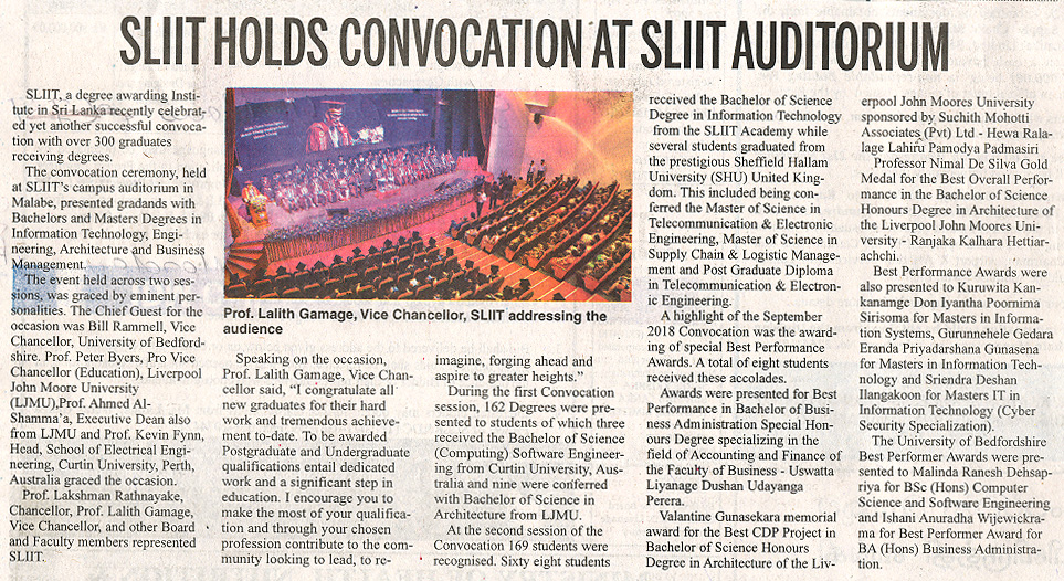 SLIIT-Holds-Convocation-at-SLIIT-Auditorium-Daily-News-29-10-2018