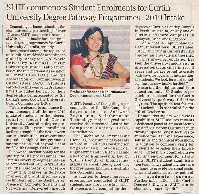 SLIIT-Commences-Student-Enrolments-for-Curtin-University-Degree-Pathway-Programmes-2019-Intake-Sunday-Times-21-10-2018