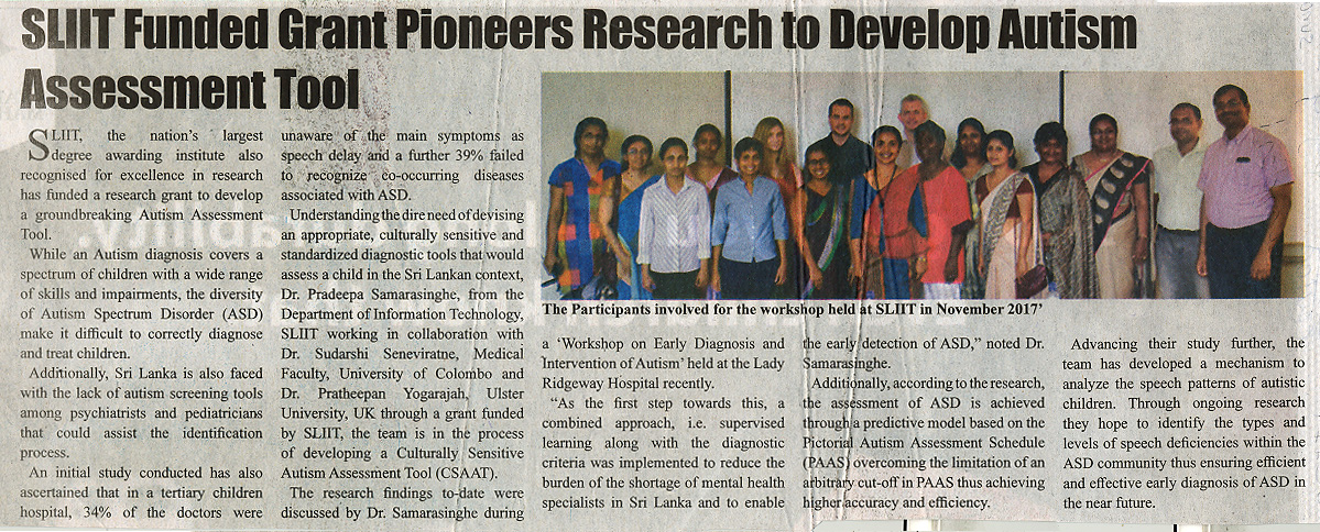 SLIIT-Funded-Grant-Pioneers-Research-to-Develop-Autism-Assessment-Tool-Ceylon-Independant-23-12-2018
