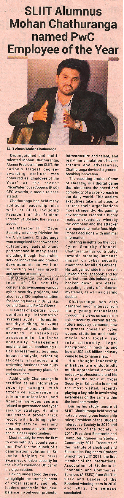 SLIIT-Alumnus-Mohan-Chathuranga-named-PwC-Employee-of-the-Year-Ceylon-Today-09-01-2019