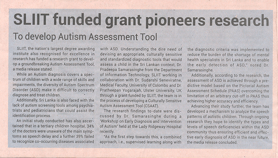 SLIIT-Funded-Grant-Pioneers-Research-to-Develop-Autism-Assessment-Tool-Ceylon-Today-23-12-2018