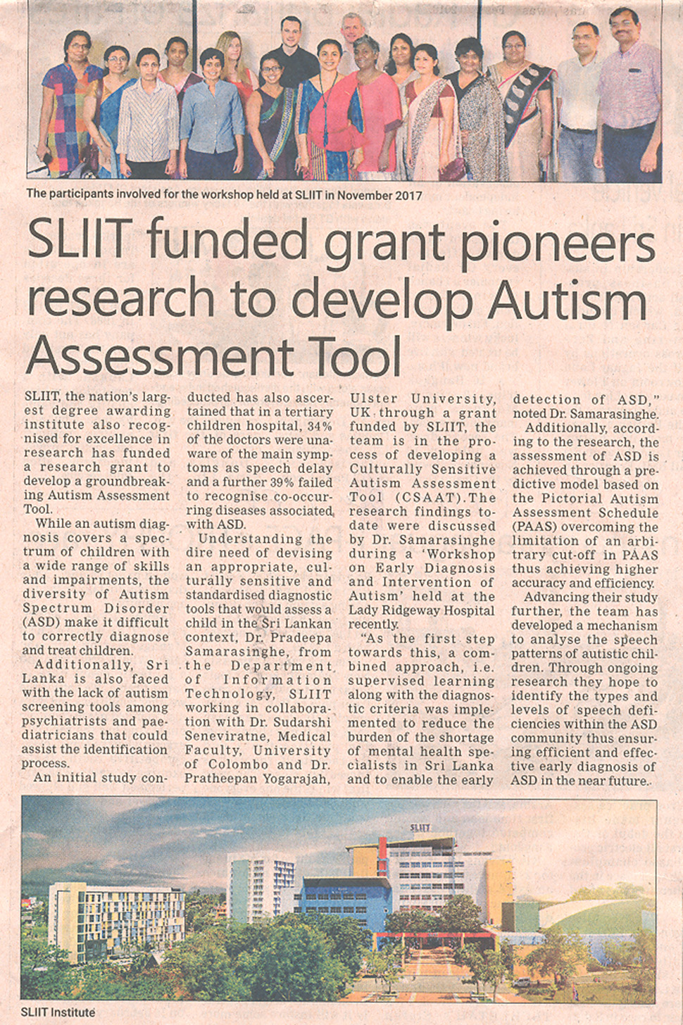 SLIIT-Funded-Grant-Pioneers-Research-to-Develop-Autism-Assessment-Tool-Daily-FT-24-12-2018