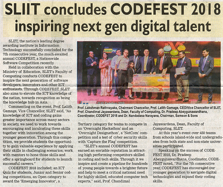 SLIIT-Concludes-CODEFEST-2018-Inspiring-Next-Generation-Digital-Talent-The-Island-05-11-2018