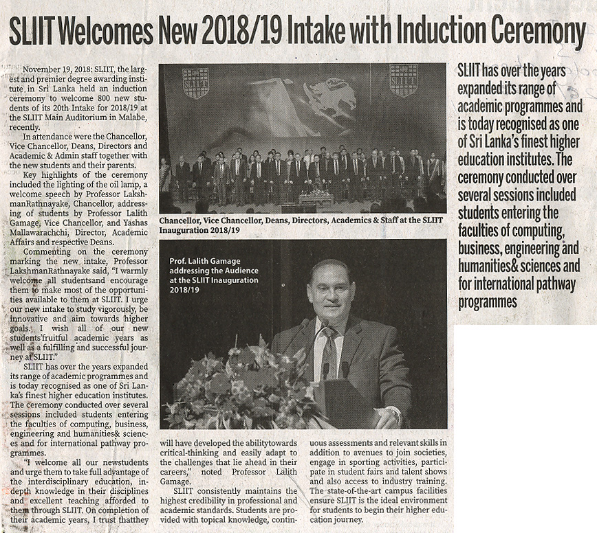 SLIIT-Welcomes-New-2018-19-Intake-with-inductio-Ceremony-Sunday-Observer-25-11-2018