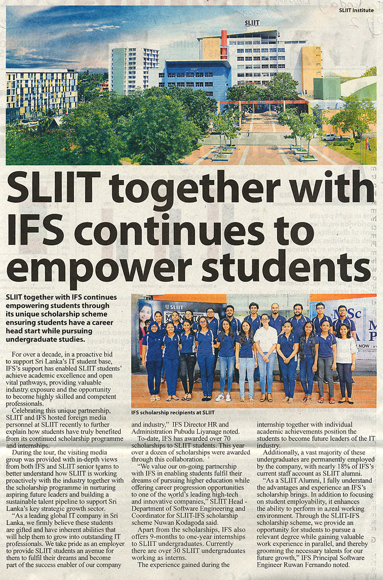SLIIT-Together-with-IFS-Continues-to-Empower-Students-The-Sunday-Morning-09-12-2018