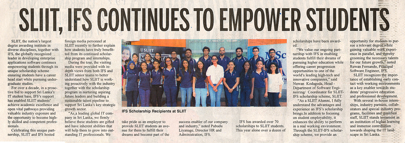 SLIIT-IFS-Continues-to-Empower-Students-Daily-News-11-12-2018