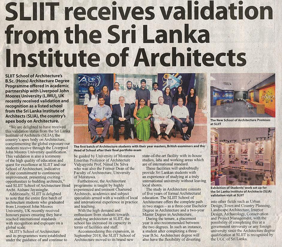 SLIIT-Receives-Validation-from-Sri-Lanka-Institute-of-Architects-Sunday-Morning-06-01-2019