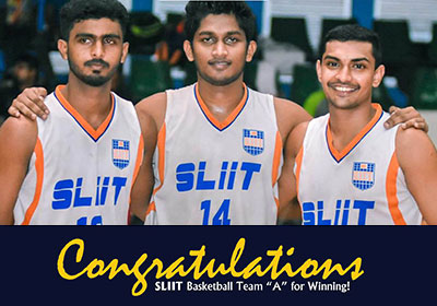 "Congratulations SLIIT Basketball Team ""A"" for Winning!"
