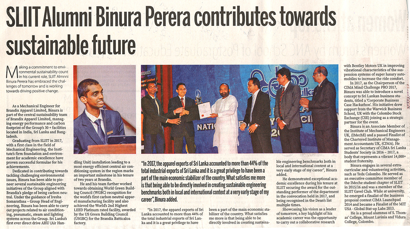 SLIIT-Alumnus-Binura-Perera-Contributing-towards-Shaping-Sustainable-Future-Sunday-Observer-28-07-2019