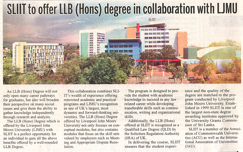 SLIIT-to-Offer-LLB-Hons-Degree-in-Collaboration-with-LJMU-Daily-News-25-07-2019
