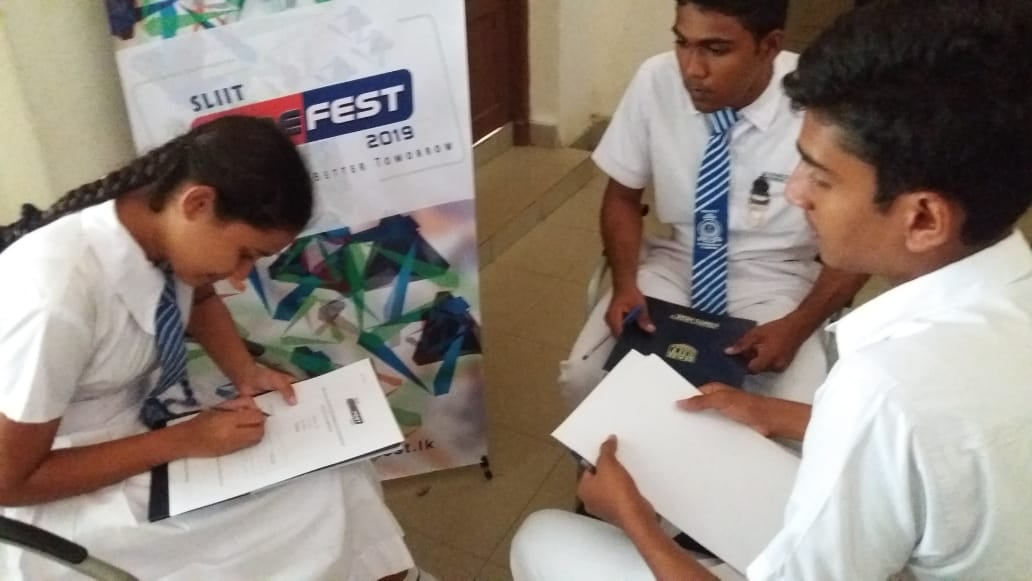 SLIIT-Codefest-School-Workshops-2019